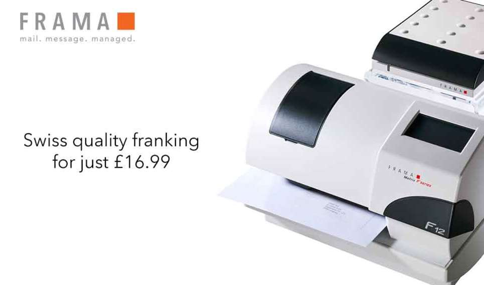 Frama reduces the cost of their franking machines