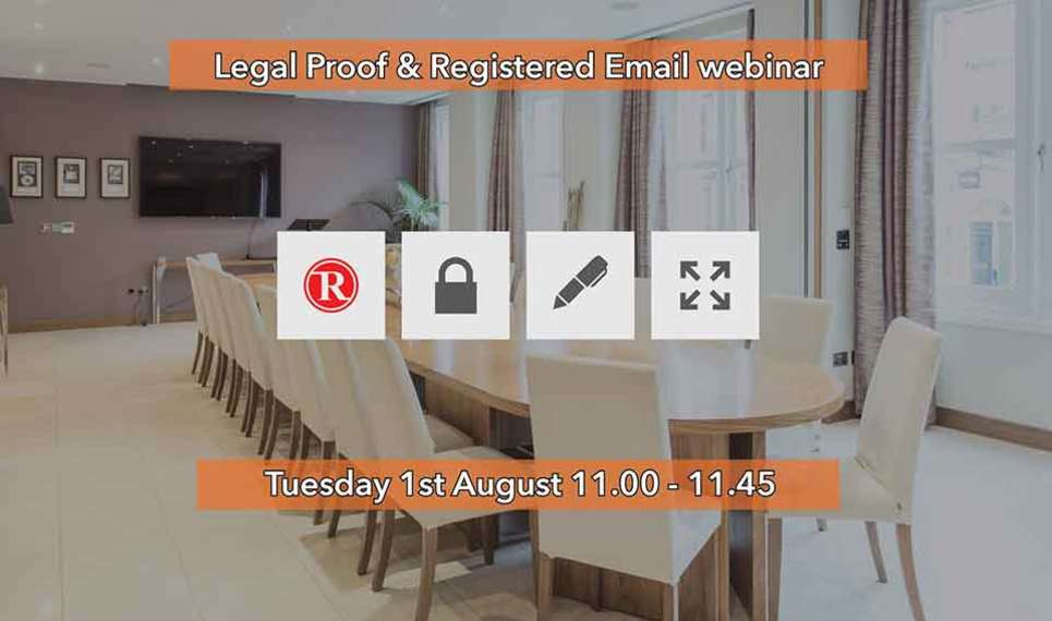 Frama is doing a webinar for legal proof