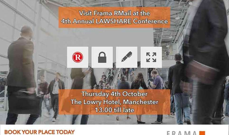 Frama is going to a lawshare conference