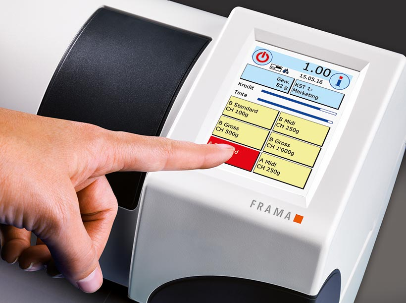 Frama F32 franking machine one touch system
